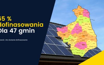 65% dofinasowania  na Fotowoltaikę – tylko 47 gmin z Podlasia. Sprawdź, czy i Ty dostaniesz ?